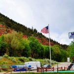 United Campground of Durango Flags & Name