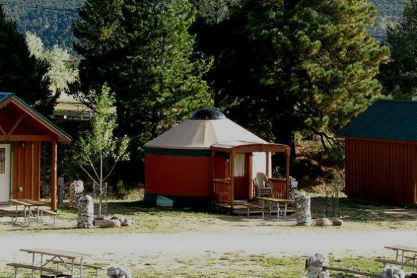 Glamping Yurt and Cabins at Arrowhead Point Campground & Cabins (Buena Vista CO)