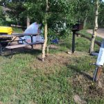 Choose from 8 tent sites, each with a grill, picnic table, and fire ring at Base Camp at Golden Gate Canyon (Black Hawk CO)