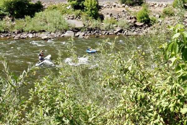 Enjoying the Colorado River near Glenwood Springs