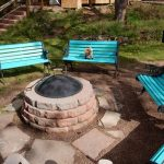 Be social at the fire ring at Bristlecone Lodge in Woodland Park