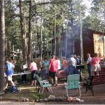 Group activities at Bristlecone Lodge in Woodland Park, Colorado