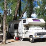 Shady RV camp sites at Chalk Creek RV Park & Campground near Buena Vista Colorado