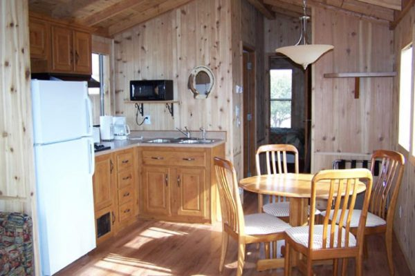 Spacious, well-appointed interiors at Chalk Creek RV Park & Campground near Buena Vista Colorado