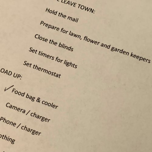 Camp Colorado checklist suggestions for packing