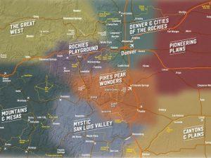 8 Tourism regions of Colorado