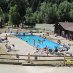 Cool off at our outdoor pool, or get out of the sun at our indoor pool ~ Cutty's Hayden Creek Resort (Coaldale Colorado)