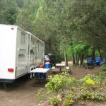 Nicely treed and shady full hook-up RV site ~ Cutty's Hayden Creek Resort (Coaldale Colorado)