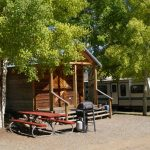 One of our 5 Camper Cabins at Gunnison Lakeside RV Park and Cabins in Colorado