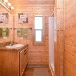 Beautifully-appointed bath in 2-bedroom cabin at Gunnison Lakeside RV Park and Cabins in Colorado