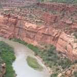 The beauty of Unaweep Canyon rivals the Grand Canyon, near High Country RV Park in Naturita CO