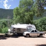 RV site at Lone Duck Campground & Cabins (Cascade CO)