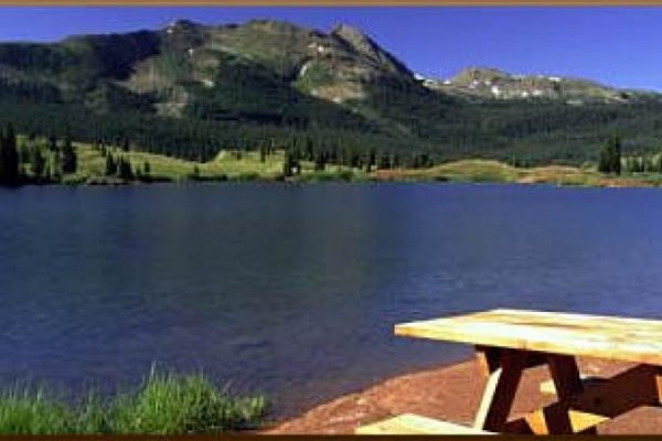 Sites with views at Molas Lake Park & Campground