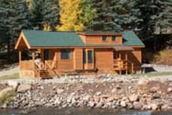 Beautiful cabins to rent at Priest Gulch Campground along the river (near Dolores CO)