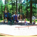 Great play area for the kids at Sportsman's Campground & Mountain Cabins near Pagosa Springs Colorado