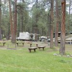 Fire ring for social gatherings while camping at Sportsman's Campground & Mountain Cabins near Pagosa Springs Colorado