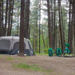 Shady tent sites at Sportsman's Campground & Mountain Cabins near Pagosa Springs Colorado