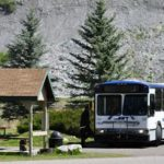 Free shuttle bus into downtown from Steamboat Springs KOA