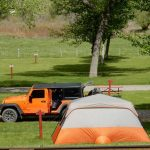 Great tent sites at United Campground in Durango