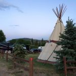 Enjoy the TeePee, RV spots, or rent a cabin at Ute Bluff in South Park